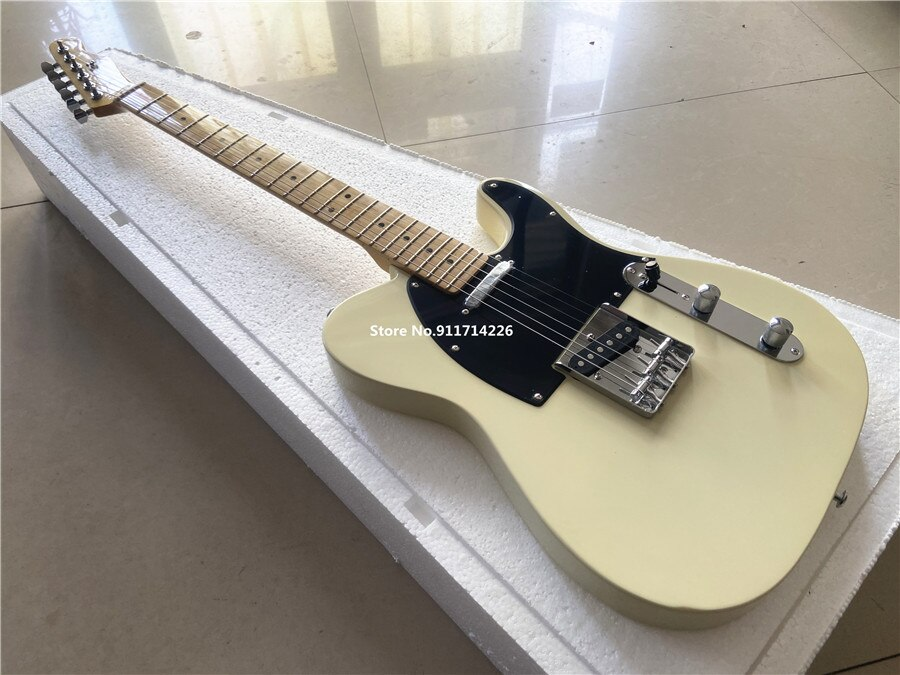 Inheriting classic cream white electric guitar black board maple xylophone neck free shipping enlarge