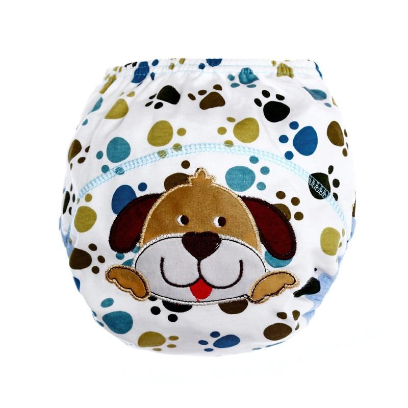 10pcs/Lot Baby Cotton Training Pants Panties Baby Diapers Reusable Cloth Diaper Nappies Washable Infant Children Underwear Nappy