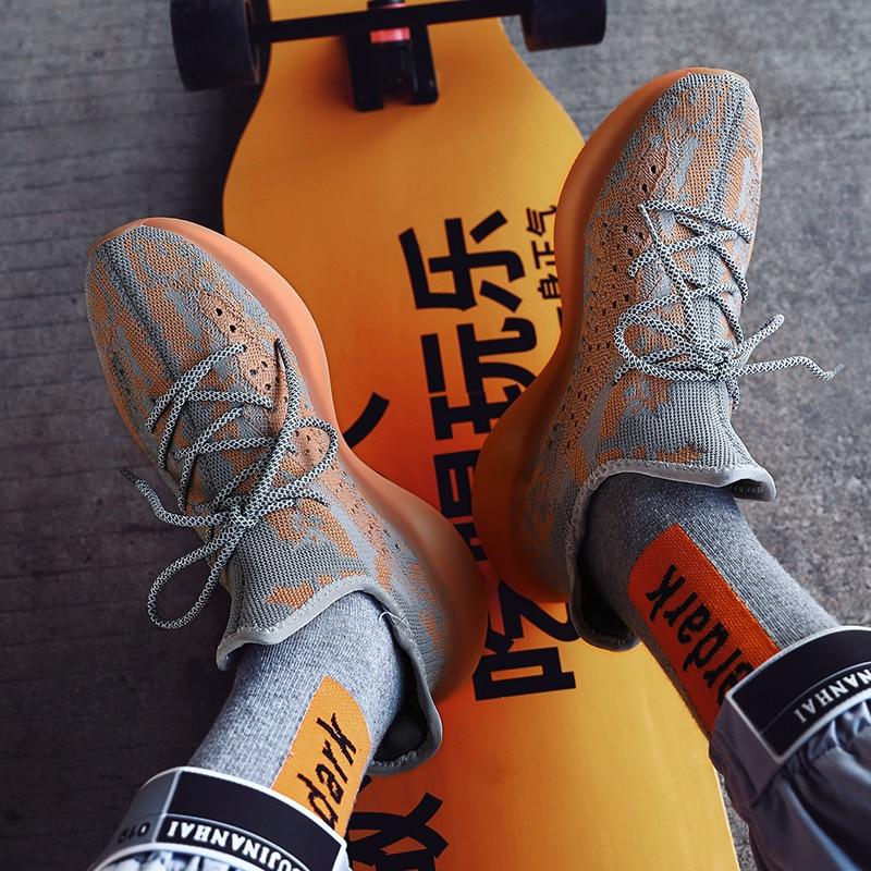 Ba Shang Mu Men's Shoes Autumn Tide Shoes 2021 New 350V3 Yeeey Men's Shoes Casual Mesh Sports Shoes Breathable Running Shoes TPU
