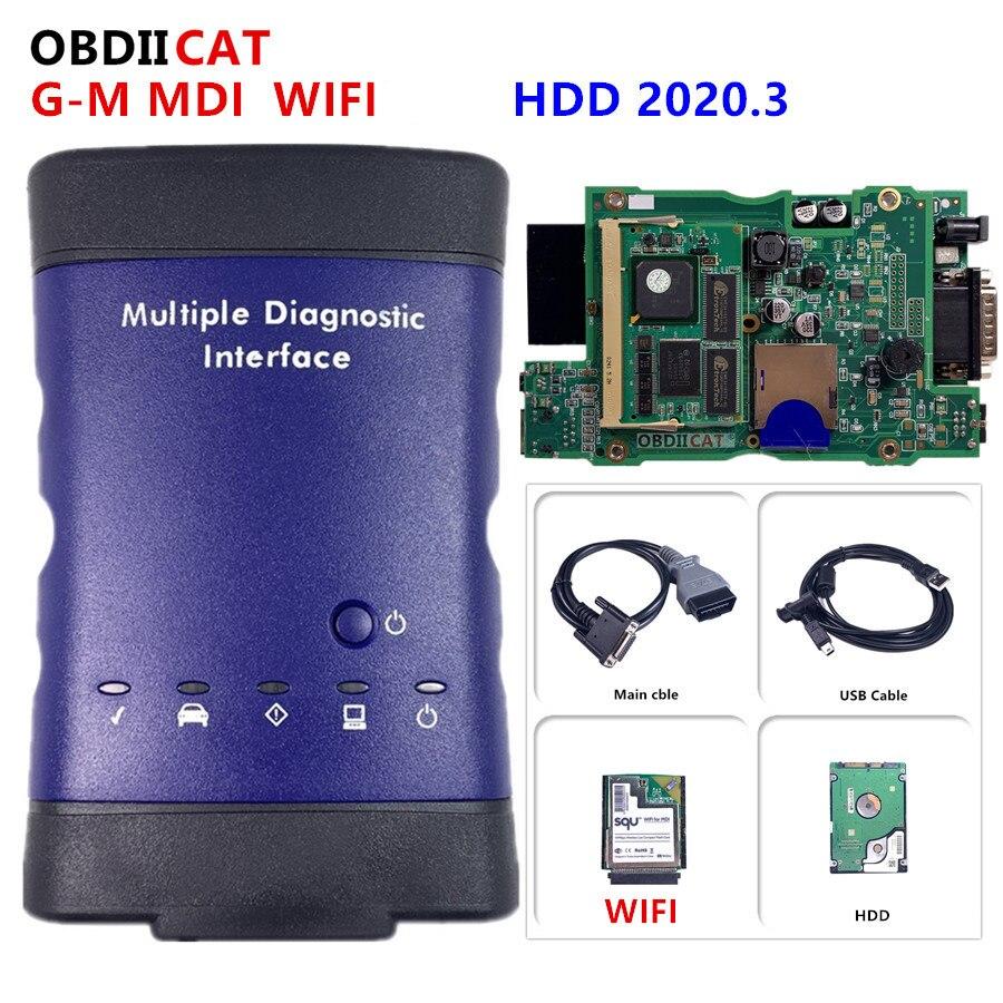 Mdi obd2 wifi usb scanner obd2 ferramenta de diagnóstico do carro mdi wifi scanner mdi para G--M v2020.3 interface de diagnóstico múltiplo