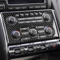 carbon fiber cd console panel air conditioning cover trim fit for nissan gtr r35 2008 2016 lhd rhd