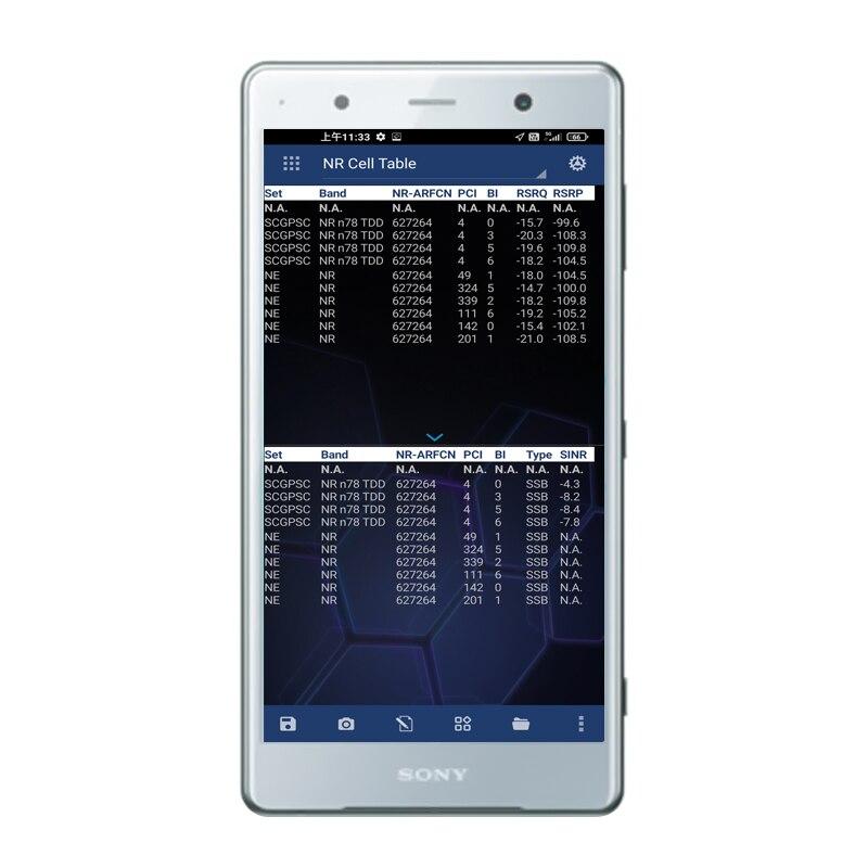 هاتف Nemo سهل الاستخدام من Nemo موديل XZ2 H8266 يدعم محرك الأقراص GSM HSPA LTE قياسات NR للاختبار الخارجي لـ NEMO