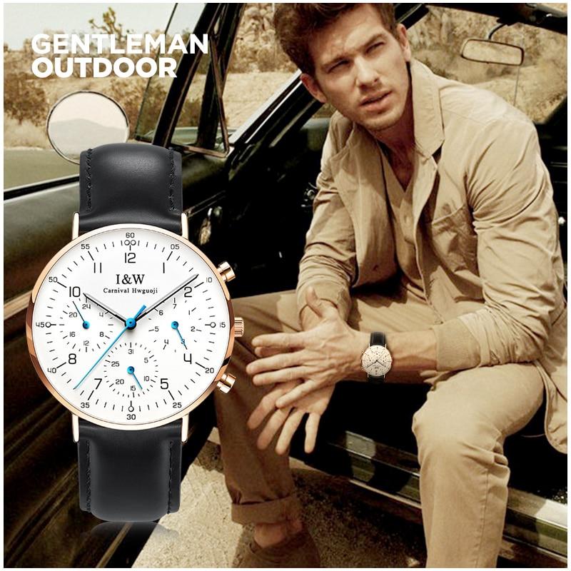 Carnival Top Brand Fashion Watch Man Luxury Waterproof Ultr Thin Luminous Sapphire Business Quartz Wristwatch Relogio Masculino