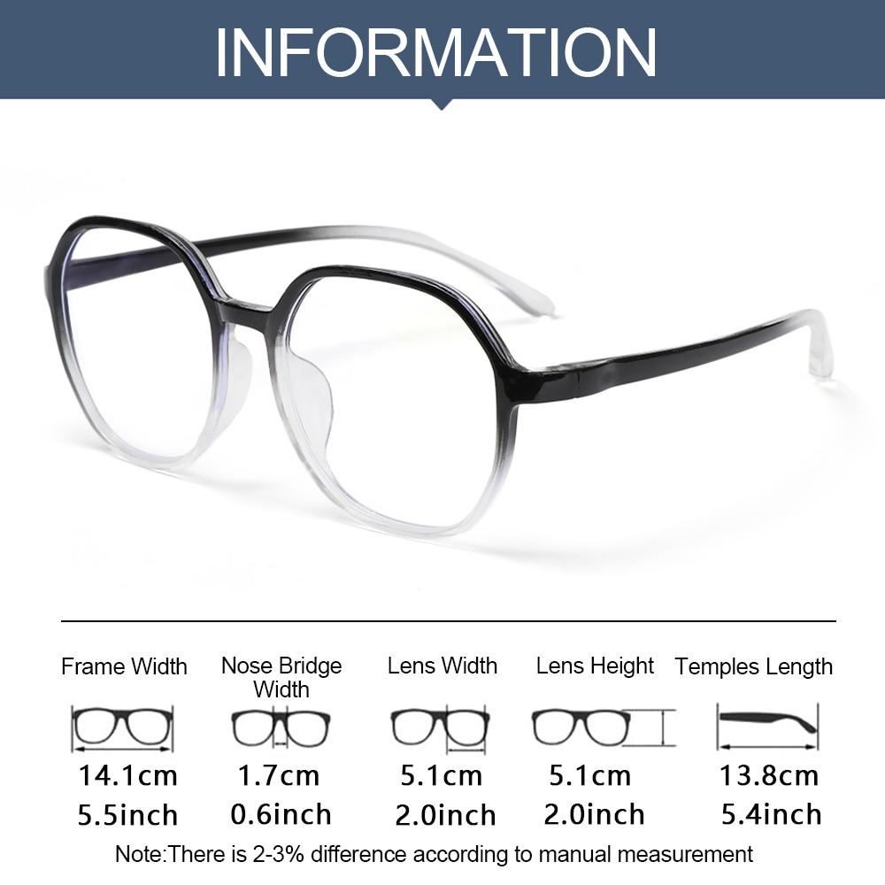 1PC Fashion Myopia Glasses Ultralight Gradient Color Polygon Frame  Optical Eyeglasses Women Men Eyewear Vision Care 4.0~0
