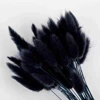 50pcslot black pampas rabbit tail grass artificial flowers for decoration flores plants home decor trawa pampasowa wholesale