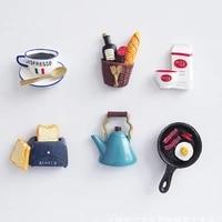 3D Magnetic Refrigerator Paste Bionic Food Fridge Magnet Collection Message Board Reminder Fridge Magnet Button Home Decoration