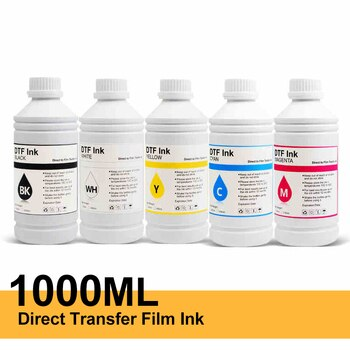 Free Shipping 1000ML DTF Ink Kit Film Transfer Ink For Direct Transfer Film Printer For Printer PET Film Printing And Transfer