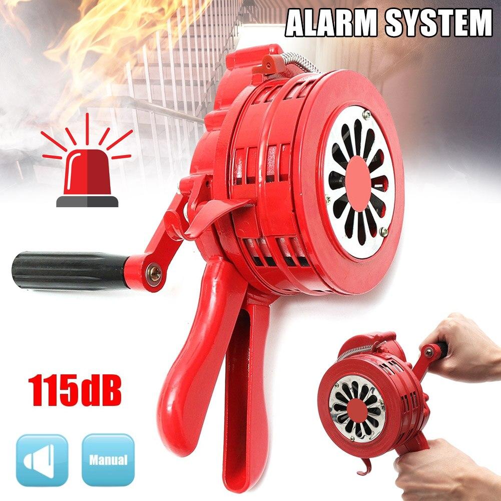 Manivela operada a mano antirrobo seguridad sirena fuego alarma de emergencia aleación de aluminio 231X202X115mm I88 #1