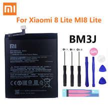 Xiao Mi Оригинальная батарея для телефона BM3J для Xiaomi 8 Lite MI8 Lite, сменная батарея большой емкости 3350 мАч с бесплатными инструментами