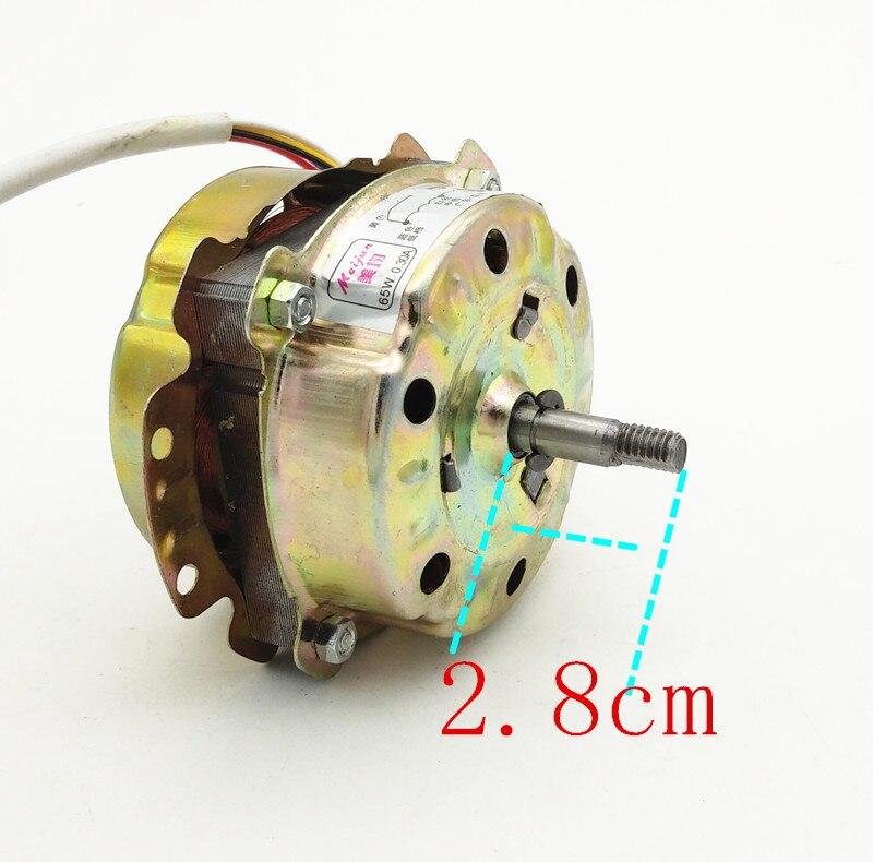 8 مللي متر محور 9 سنتيمتر 220V 65W 0.30A المحرك موتور مروحة طرد تهوية المحرك دوارات موتور مروحة كهربائي اكسسوارات