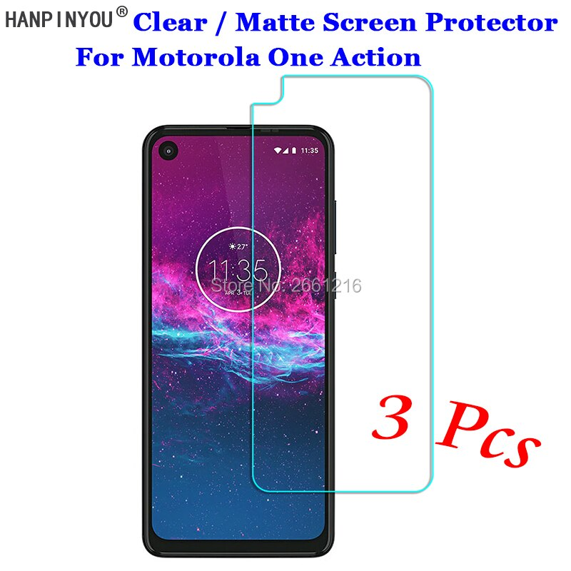 """3 Pcs/Lot For Motorola One Action 6.3"""" New HD Clear / Anti-Glare Matte Front Screen Protector Touch Film Protection Skin"""