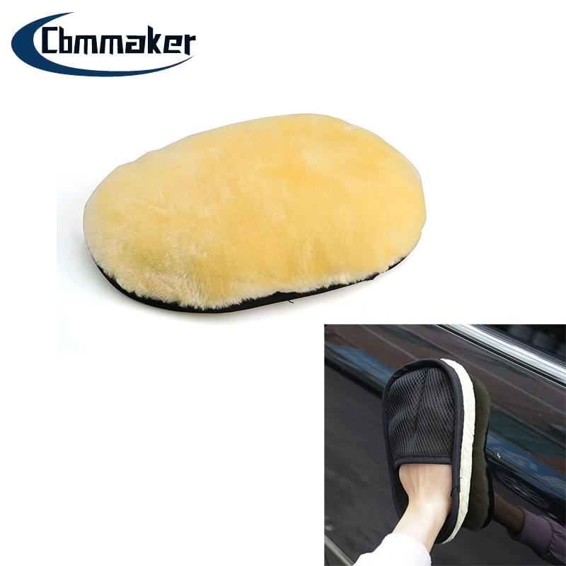 Car Fleece Cleaning Towel Gloves Car Wash Gloves Household Cleaning Gloves Absorbent Wool Glove Car Wash Tools Car Wiping Towel