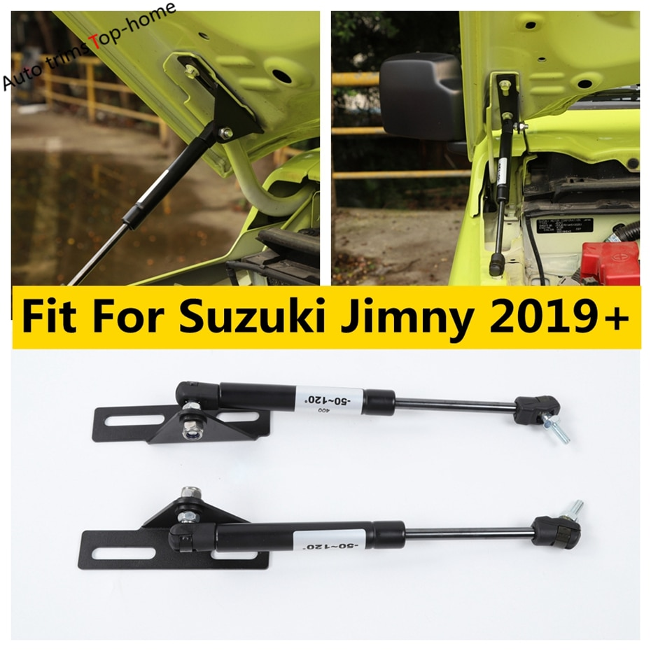 Yimaautotrims Front Engine Hood Gas Spring Lift Supports Struts Hydraulic Rod Accessories Kit Fit For Suzuki Jimny 2019 2020