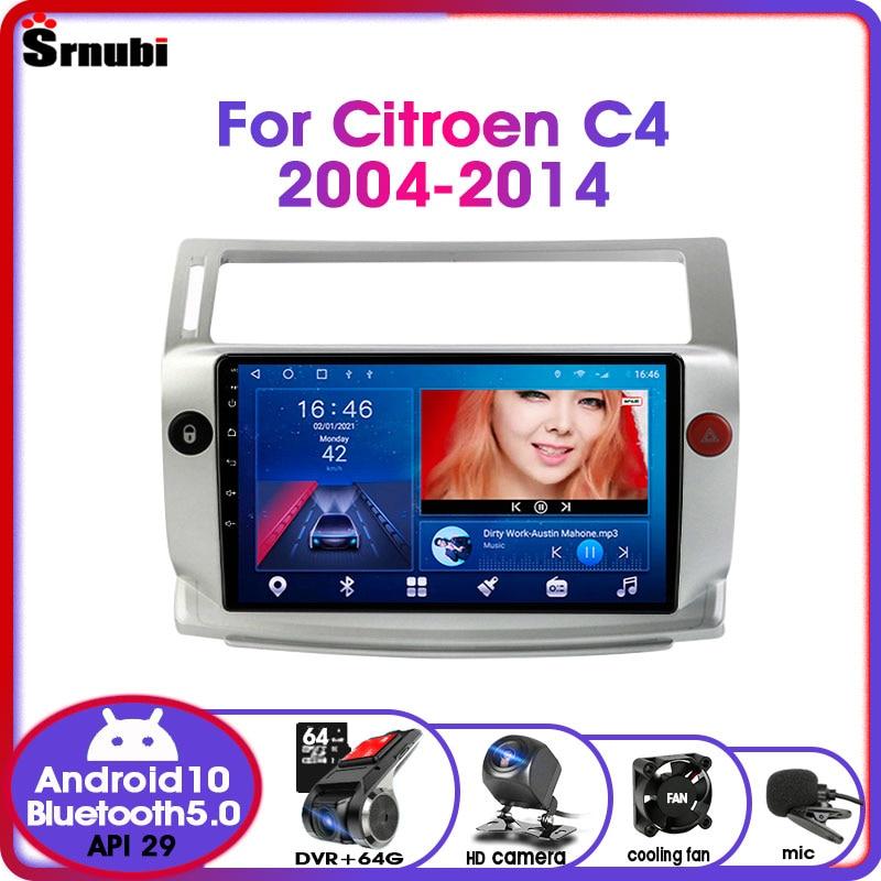 Фото - Автомагнитола 2 Din на Android 10 для Citroen C4 C-Triumph C-четыре 2004-2014, радио, GPS-навигация, мультимедийный плеер RDS 4G net, DVD автомагнитола jmcq 2 din android 10 для renault megane 2 2002 2009 мультимедийный видеопроигрыватель с сенсорным экраном gps rds dvd