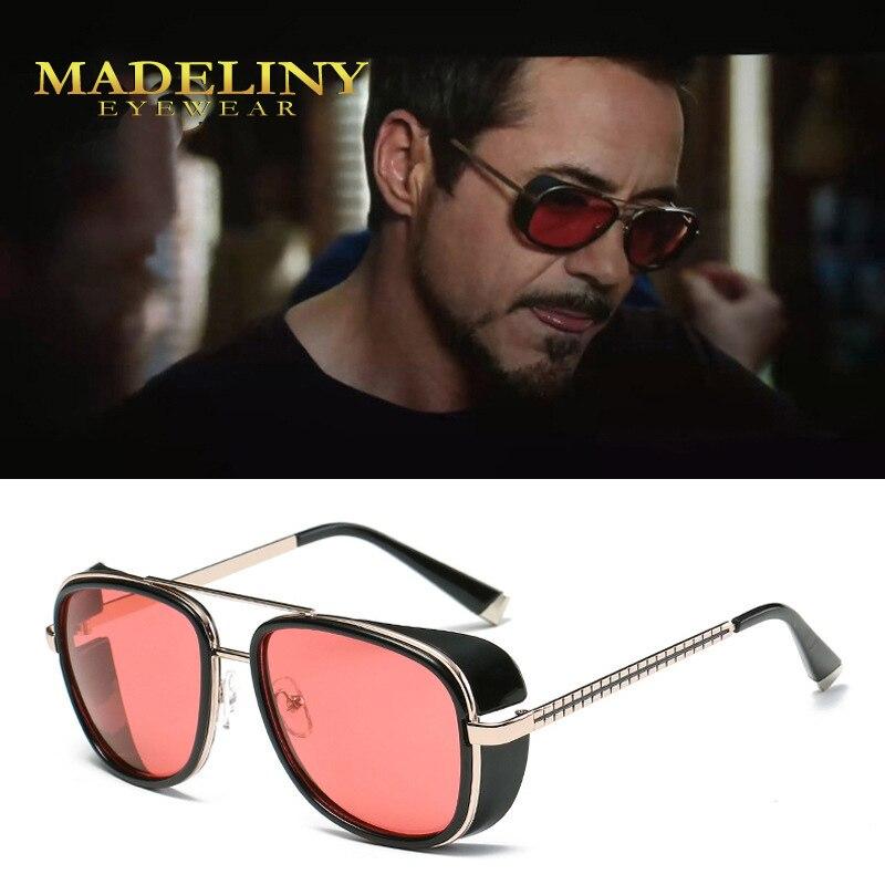 MADELINY Steampunk Sunglasses Iron Man 3 Matsuda TONY stark Glasses Men Women Vintage Designer Glass