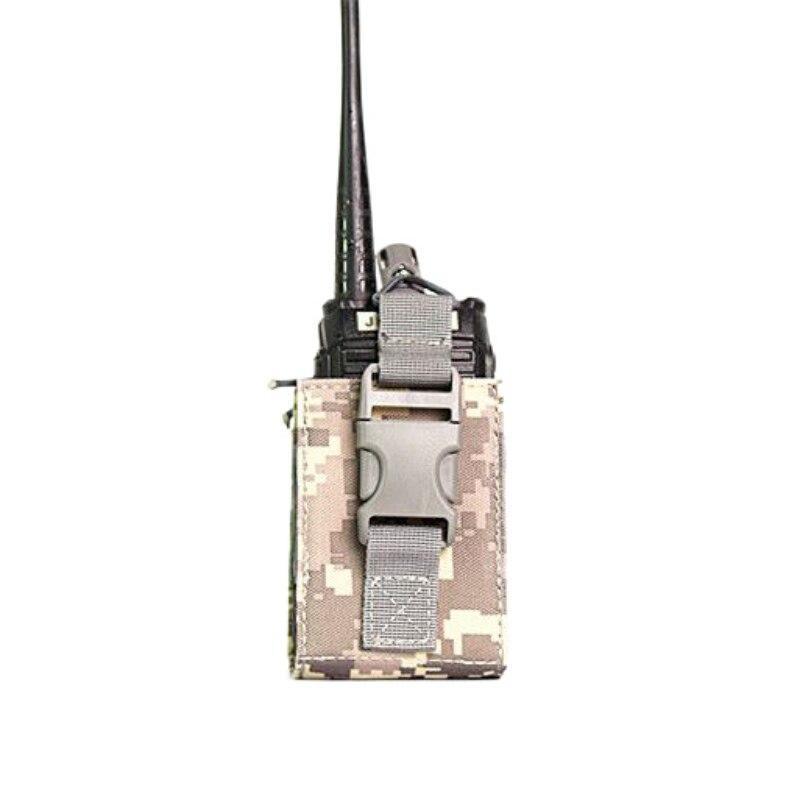 Bolsa de cintura pequeña de Nylon portátil impermeable Durable estuche protector ropa deportiva accesorios de Radio Walkie Talkie bolsa