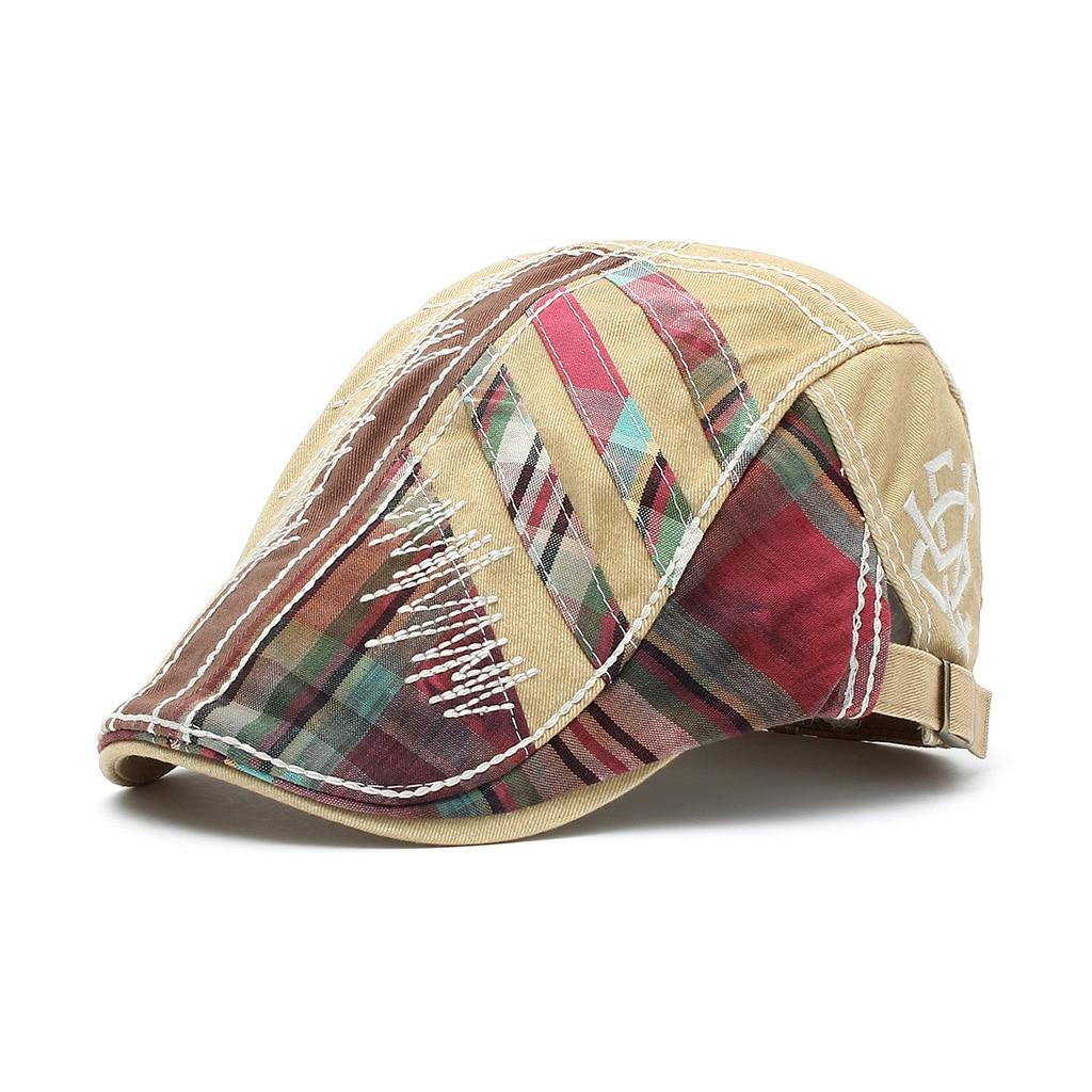 Four Seasons Fashion Caps Men's European And American British Casual Women Caps Stitching Berets