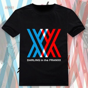New Anime DARLING in the FRANXX  T-shirt Cosplay 02 T Shirt Fashion Cotton Short Sleeve Tees