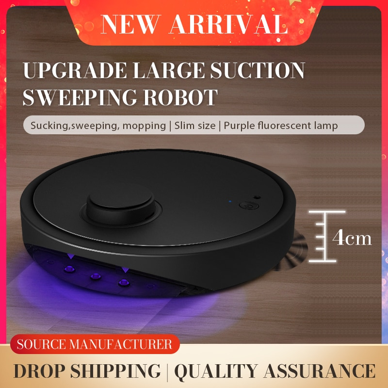 Home Automatic Robot 3-In-1 Smart Wireless Sweeping Vacuum Cleaner Dry Wet Cleaning Machine Charging Intelligent Vacuum Mopping vacuum cleaner robot for home 1000pa dry and wet mopping smart sweeper