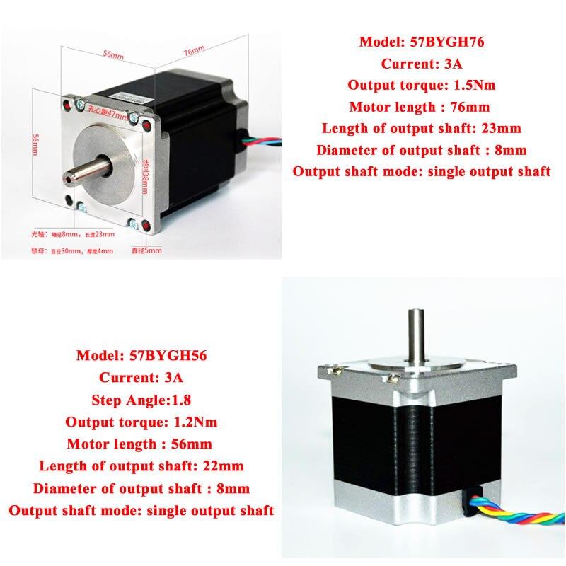 CNC 3Axis Stepper Motor Nema23 controlador Kit para marco CNC 3020 3040 6040 Diy CNC 3020 3040 6040 máquina de grabado enrutador de madera