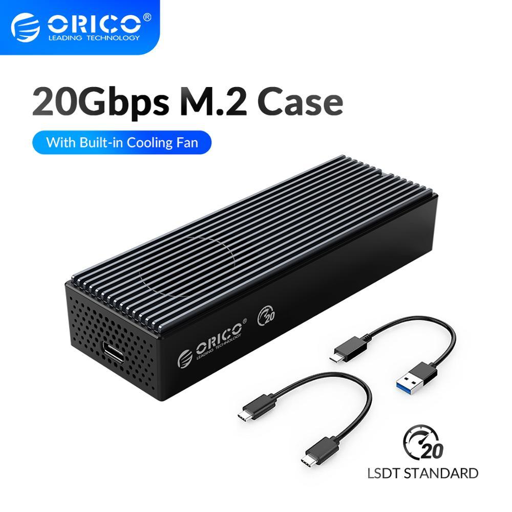 أوريكو LSDT 20Gbps M.2 NVME SSD مع المدمج في مروحة التبريد نوع C M2 NVME SSD الضميمة ل M.2 NVME 2230 2242 2260 2280 SSD