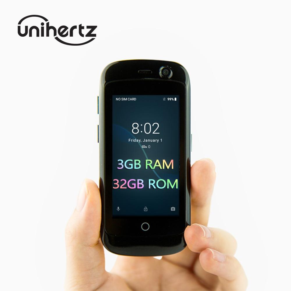 Unihertz Jelly Pro 3 ГБ + 32 ГБ, самый маленький смартфон 4G в мире, Android 8,1 Oreo разблокированный смартфон черного цвета