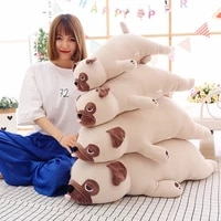 new cute animal plush pug baby sleeping pillow boy girl soft filled birthday valentine gift home decoration wj150