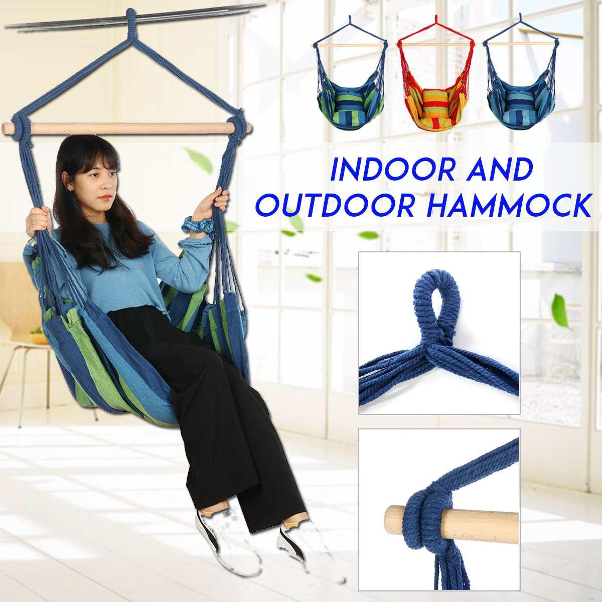 Hammock Outdoor 120KG Relax   Capacity Hanging Hammock Garden Swing Chair Bed For Patio Garden Porch Yard Bedroom