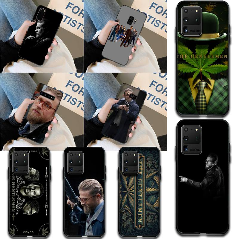 HPCHCJHM the gentlemen Black TPU Soft Phone Case Cover for Samsung S20 plus Ultra S6 S7 edge S8 S9 p