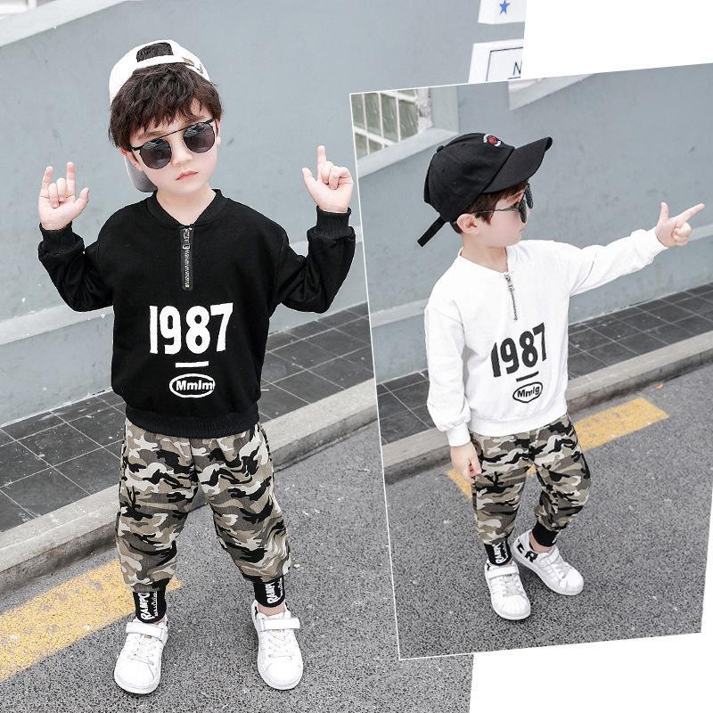 Ensemble de vêtements militaires 2 pièces pour enfants   Ensemble de vêtements militaires et pantalons pour jeunes garçons, ensemble costume pour Camouflage pour enfants 3-12t