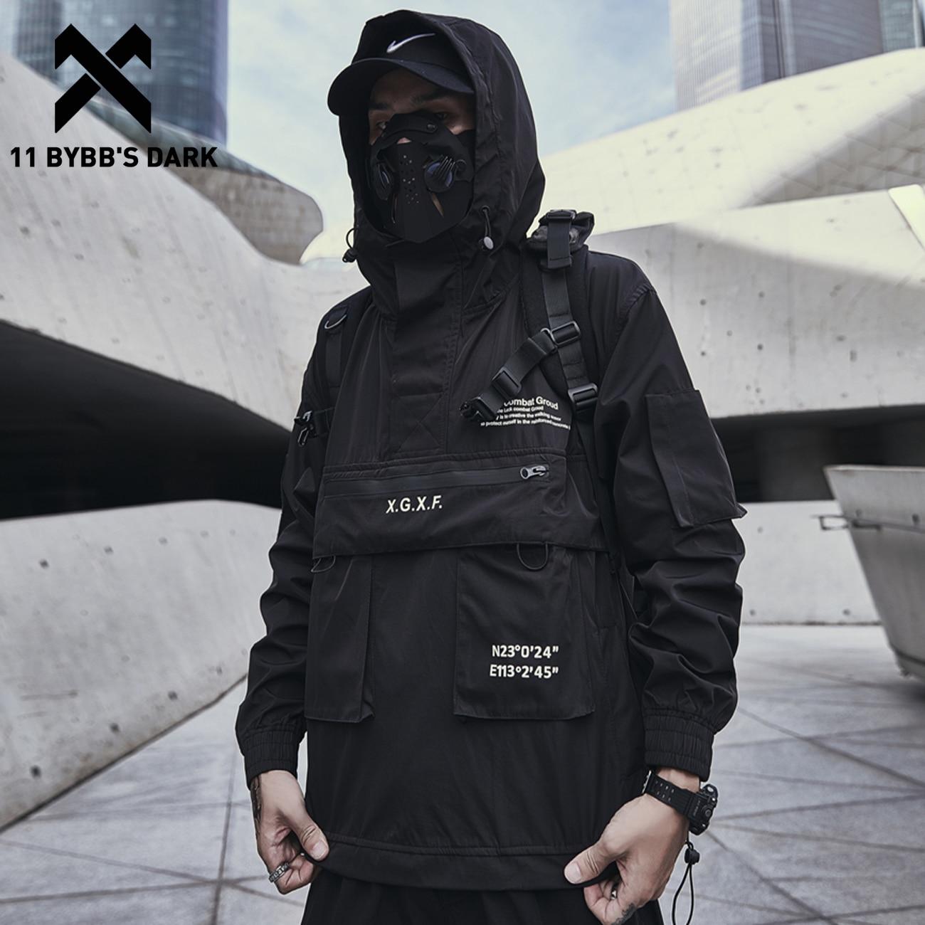 11 BYBB'S DARK Dark Cargo Jackets Coats Streetwear Tactical Function Pullover Harajuku Multi-pocket Hoody Windbreaker Coats