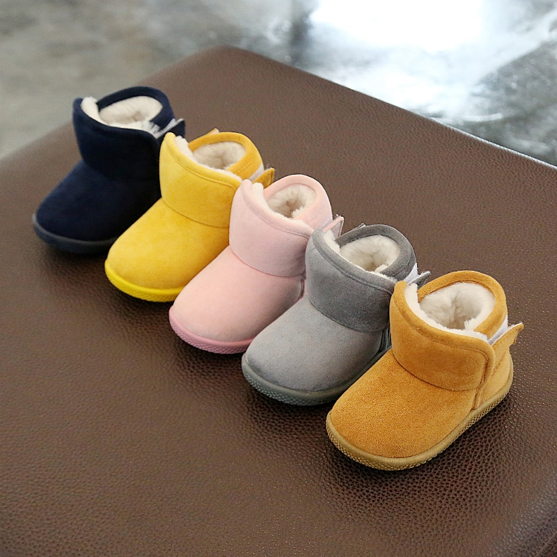Inverno infantil da criança botas de neve do bebê meninas meninos ao ar livre botas quente engrossar pelúcia fundo macio crianças criança sapatos de algodão