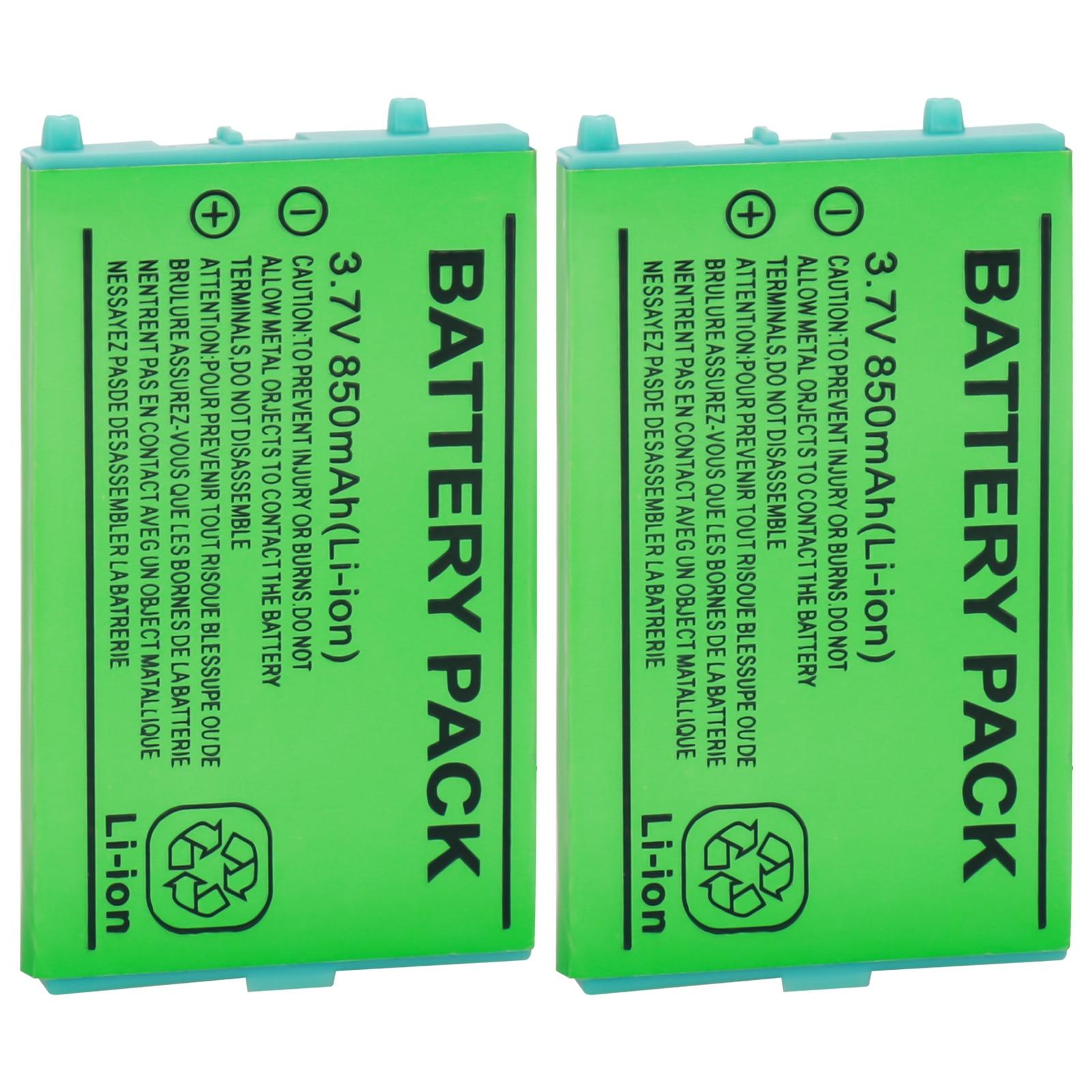 Batería de 2X 850mAh para Nintend GBA SP GameBoy Advance 3,7 V baterías recargables de litio Li-Ion