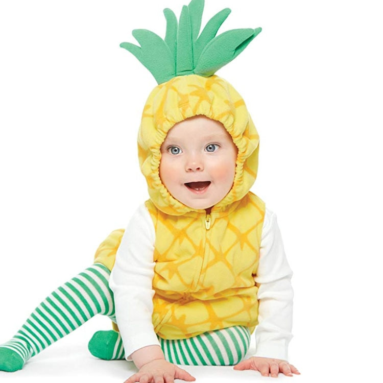 0-3Years Baby Cartoon Pineapple Rompers Kids Birthday Anniversary Party Role Play Dress Up Outfit Halloween Cosplay Costume