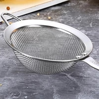 stainless steel filter spoon colander spoon food oil filter grid scoop fine mesh kitchen skimmer oil frying cooking accessories