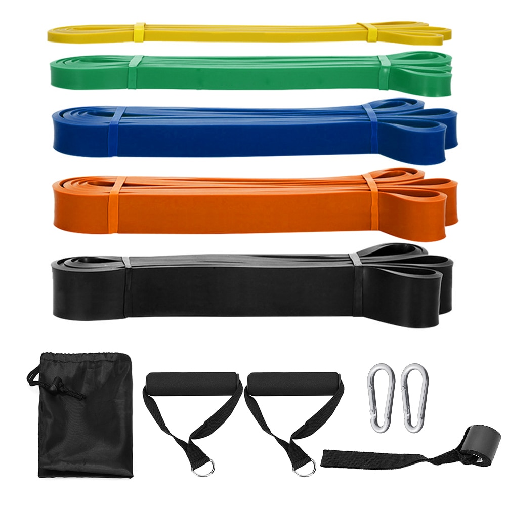 TOMSHOO-Juego de bandas de resistencia, bandas elásticas de entrenamiento con lazo de resistencia, equipo de Fitness para gimnasio