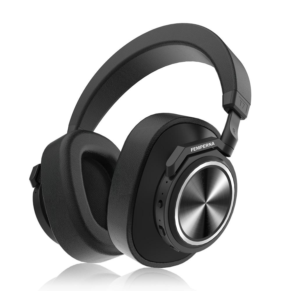 Auriculares Bluetooth T7, auriculares inalámbricos con cancelación activa de ruido definido por el usuario para teléfonos y música con reconocimiento facial