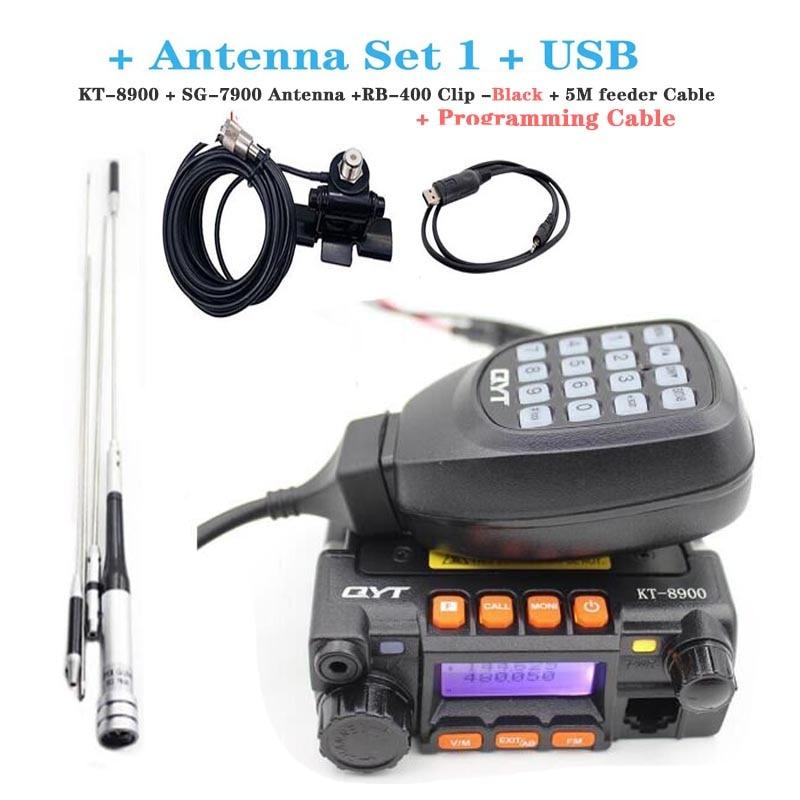 QYT KT-8900 Mini Mobile Radio Dual band 136-174MHz 400-480MHz 25W Transceiver KT8900 Auto walkie Talkie enlarge
