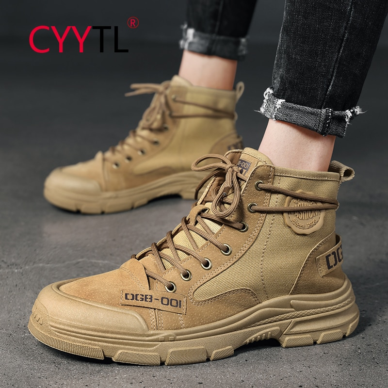 CYYTL Military Combat Boots Men Outdoor Tactical Army Shoes Waterproof Hunting Boots Non-slip Desert Botas Hiking Safety Shoes jzb high quality men military boots special force tactical desert combat ankle botas army work safety shoes leather snow boots