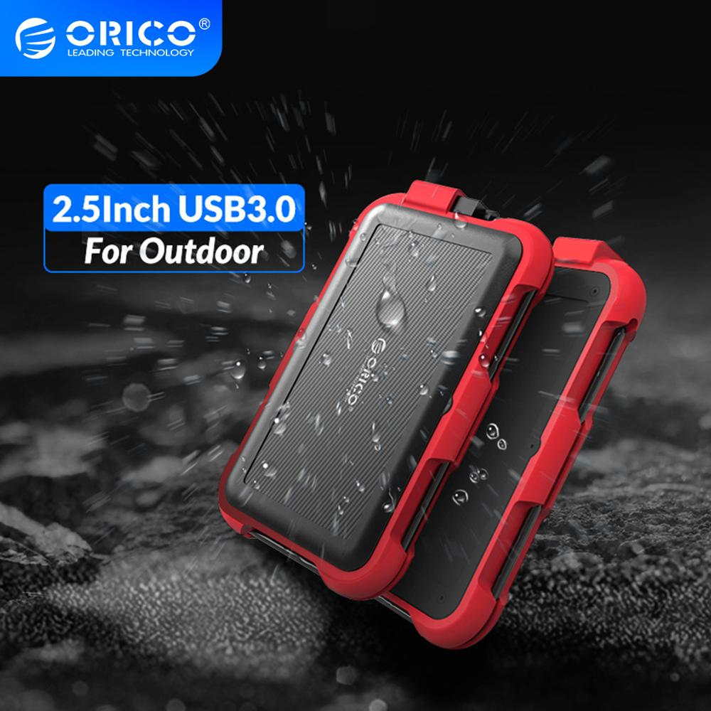 ORICO 2.5 inch HDD Enclosure Outdoor Waterproof Shockproof and Dustproof Hard Disk Box SATA 3.0 to USB HDD&SSD Case for Samsung