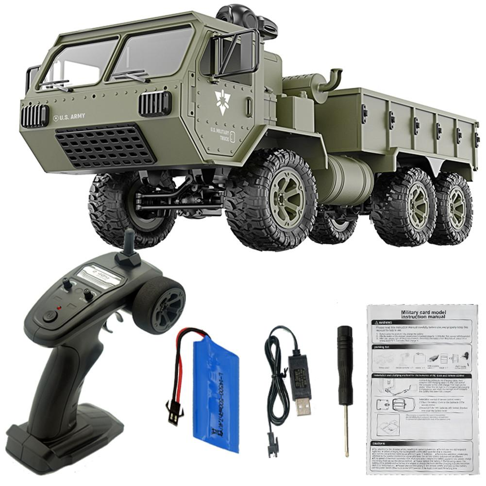 RC Military Vehicle Fayee FY004A 1/16 2.4G 6WD Remote Control Car Proportional US Army Truck RTR Model Toys enlarge