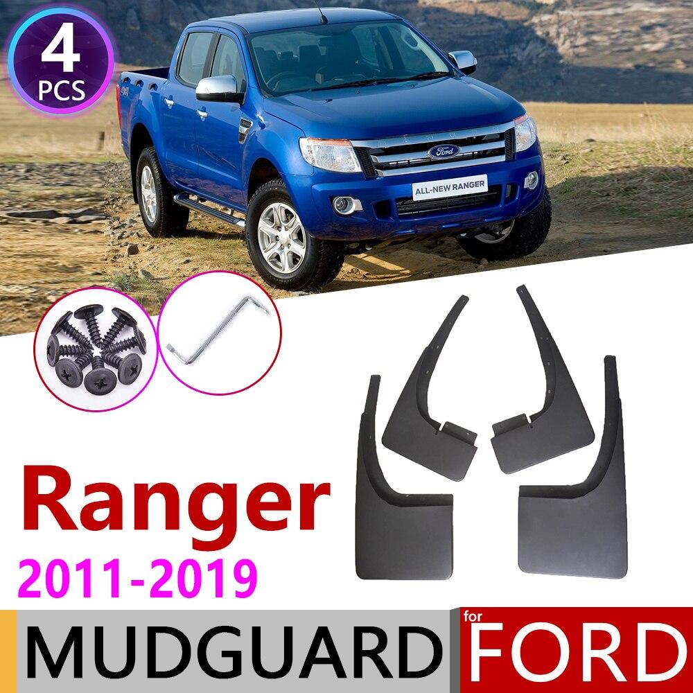 Mudflap para Ford Ranger T6 2011 ~ 2019 Fender Mud Guard Flap Lamas do Respingo Flaps Mudguards Acessórios 2012 2013 2014 2015 2016