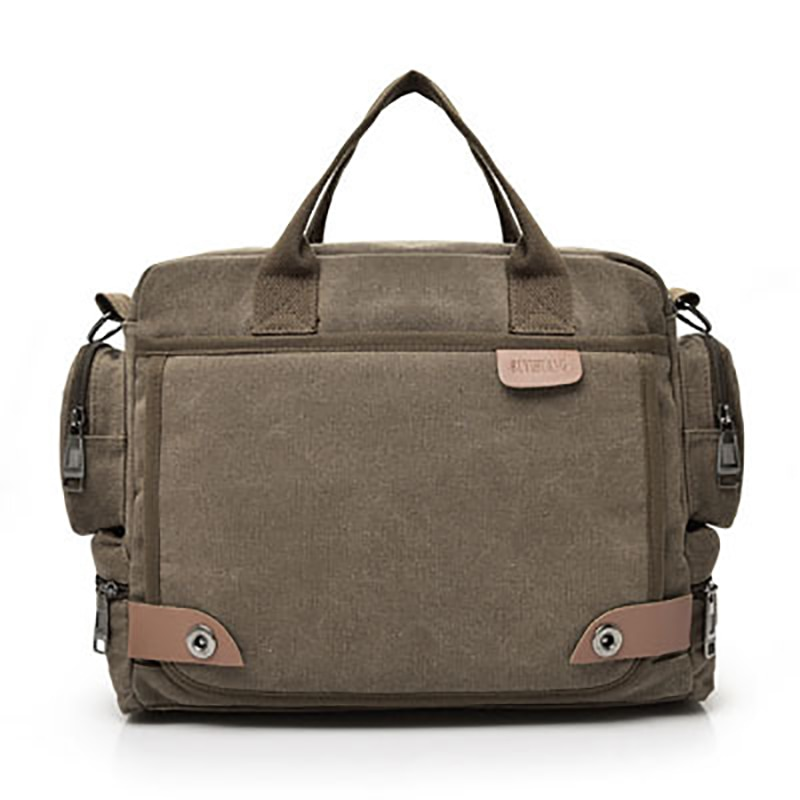 Multi-function Canvas Men Briefcase Bag Fashion Shoulder Bag For Men Business Casual Crossbody Messenger Bag Travel Bags