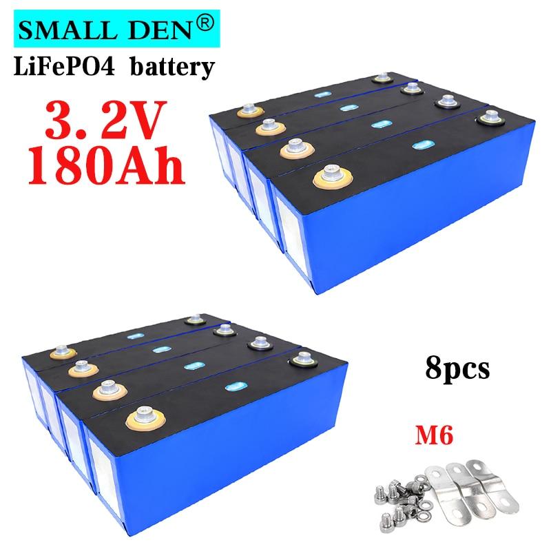 8 قطعة جديد 3.2 فولت 180Ah lifepo4 بطارية 3C ليثيوم الحديد الفوسفات لتقوم بها بنفسك 12 فولت 24 فولت الطاقة الشمسية تخزين RV UPS الكهربائية حزمة بطارية السي...