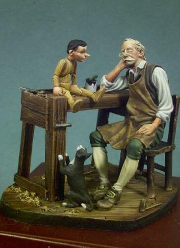 1/32 54mm antiguo hombre sit incluye base figura de resina en miniatura kits gk en miniatura sin montar