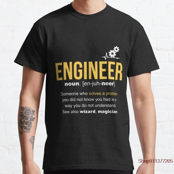 Engineer Definition Funny Gift STRING Men's Fashion Breaking Bad t Shirt Tshirt Short Sleeve Tee Hip