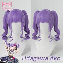 Jeu de perruque BanG Dream! Cosplay perruque synthétique violet femmes cheveux Anime Bandori Cosplay Udagawa Aka déguisement