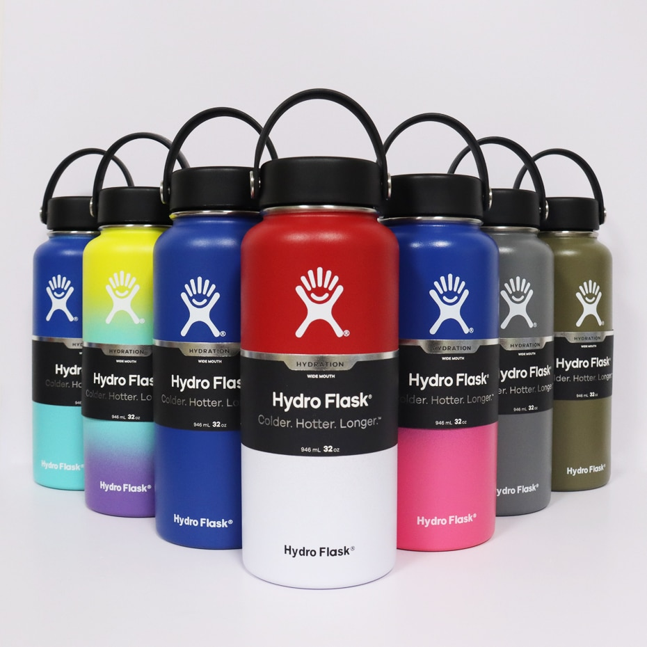 Hydro Water Bottle Flask Stainless Steel Bottle Vacuum Insulated Wide Mouth Hydroflask with Flex Cap