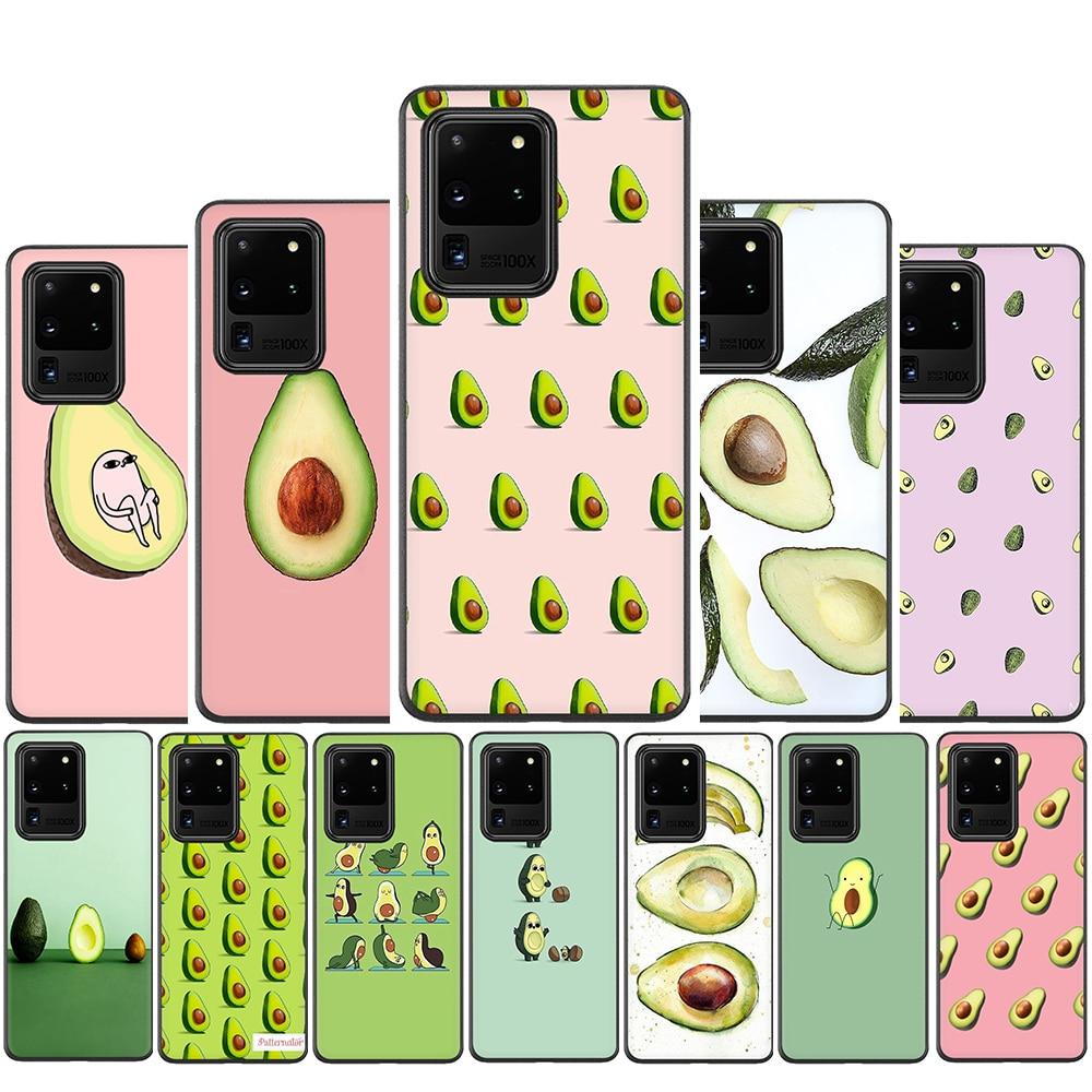 Avocado Silicone Case For Samsung S10 Note 10 Lite S20 Plus Ultra A01 A11 A21 A41 A51 A71 A81 A91