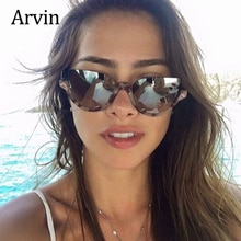 Sexy Cat eye mirror sun glasses for women fashion Brand Half frame Anti blue light glasses sunglasse
